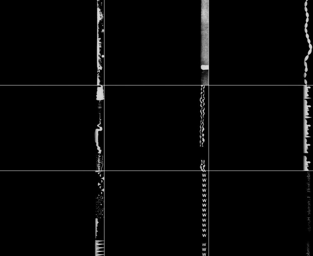 Nine frames from László Moholy-Nagy's ABC in Sound (1933)