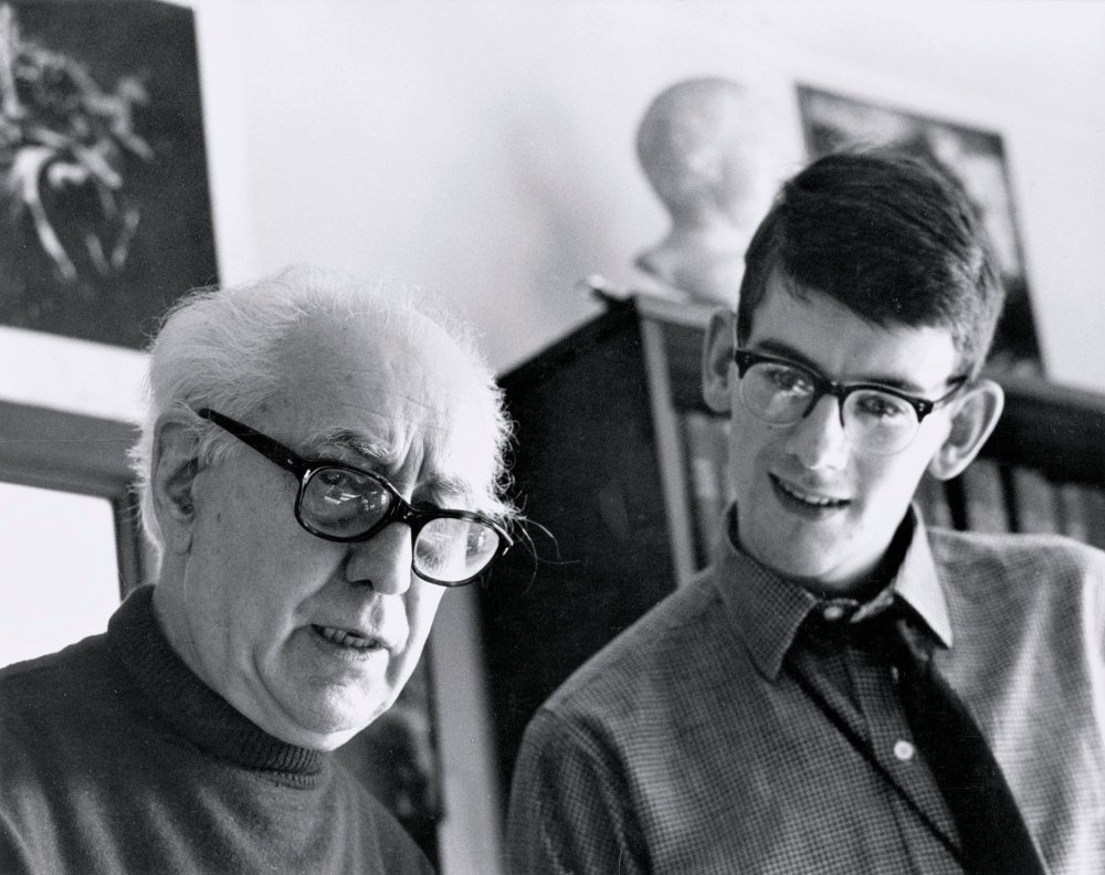 Abel Gance and Kevin Brownlow in 1967.