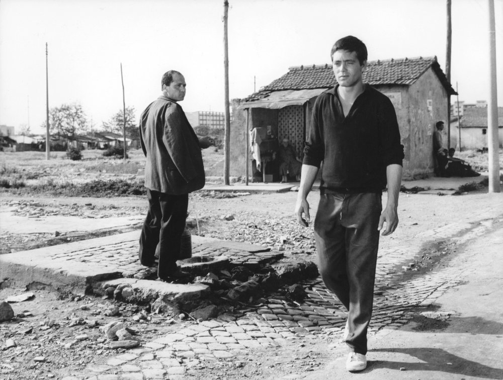 Franco Citti in his screen debut as the title character of Pier Paolo Pasolini's Accatone (1961)