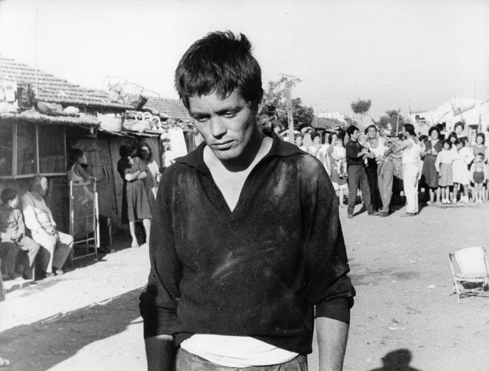 Franco Citti as the titular character in Pier Paolo Pasolini's Accattone (1961)