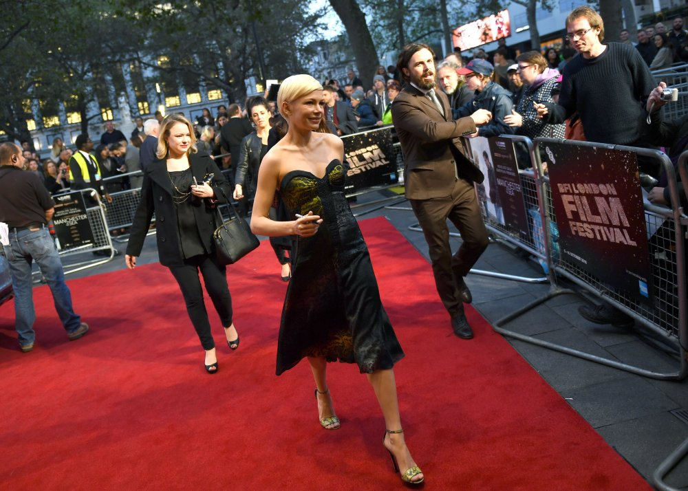 Michelle Williams and Casey Affleck attend Manchester by the Sea at Odeon Leicester Square