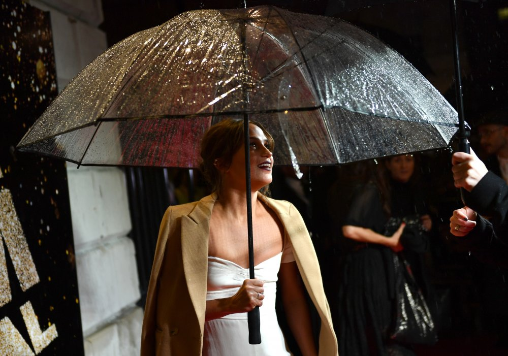 Alicia Vikander attends the BFI London Film Festival awards at Banqueting House