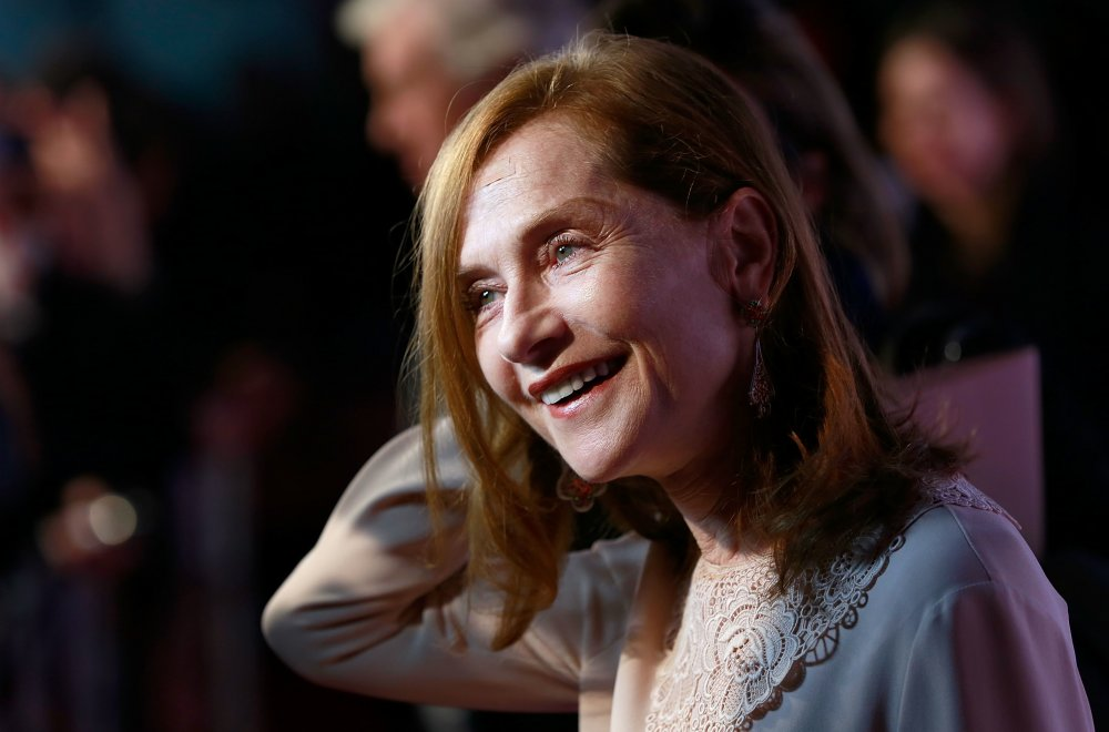 Isabelle Huppert attends the Official Competition screening of Elle at Embankment Garden Cinema