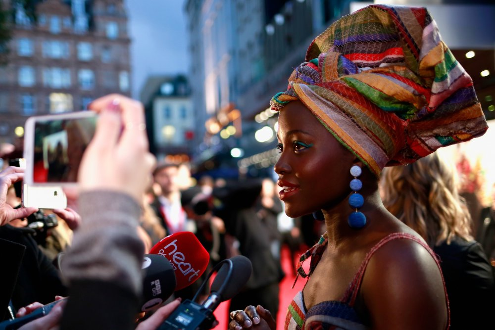 Lupita Nyong'o attends the Virgin Atlantic Gala screening of Queen of Katwe at Odeon Leicester Square