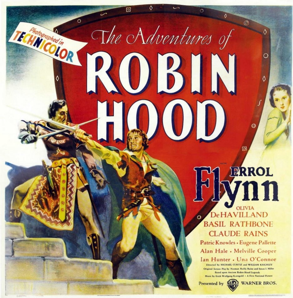 The Adventures of Robin Hood (1938) poster