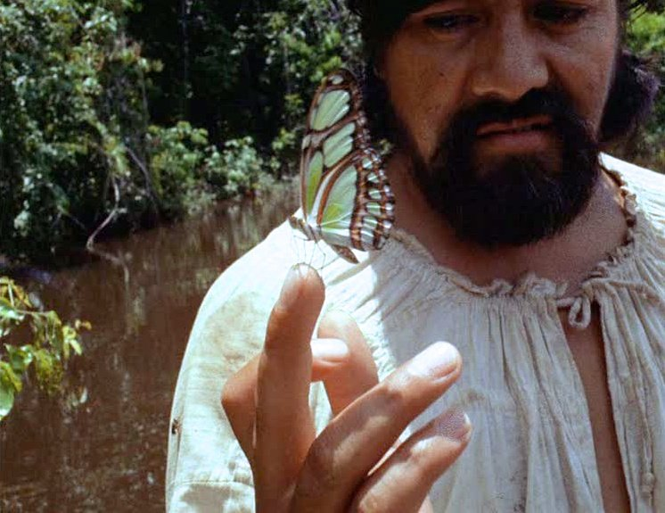 A butterfly in Aguirre, Wrath of God (1972)