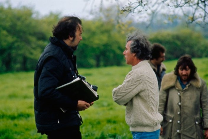 Director Peter Hall with writer and essayist Ronald Blythe