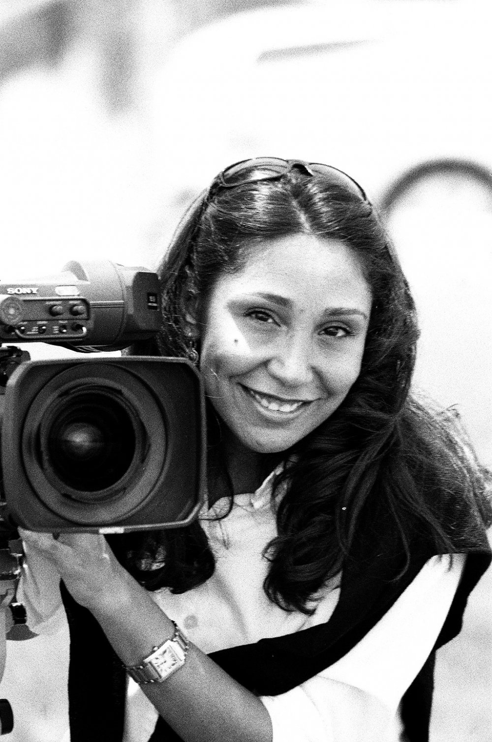 Haifaa Al-Mansour filming Wadjda (2012)