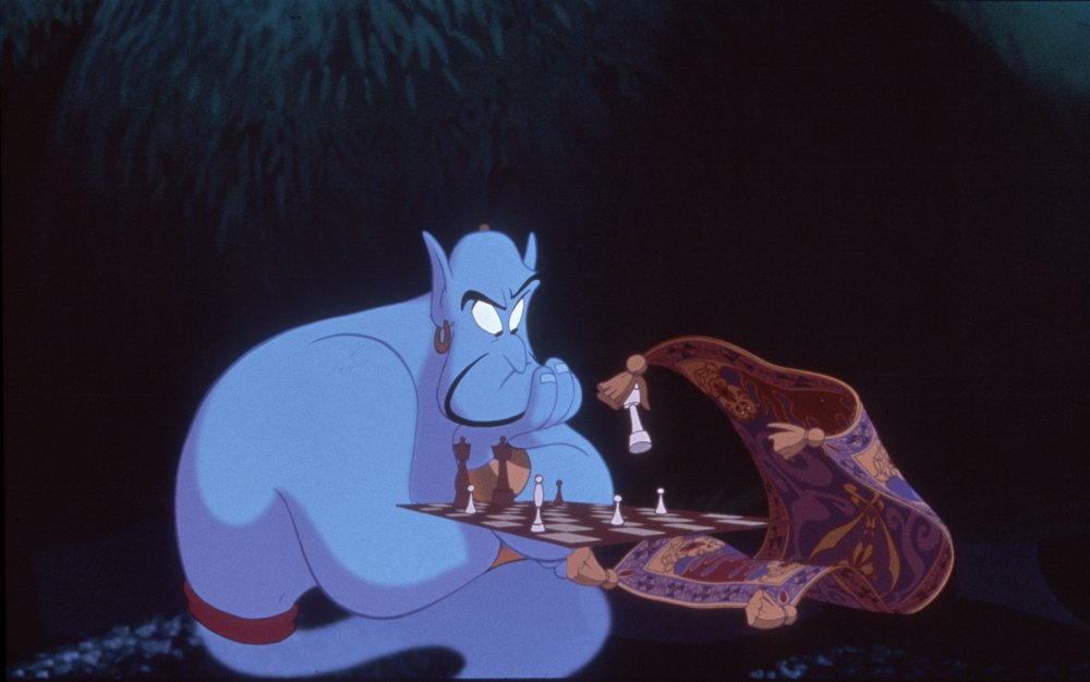 Williams's scattershot comic patter was put to unforgettable effect as the voice of the genie of the lamp in Disney's energetic 1992 animation, Aladdin
