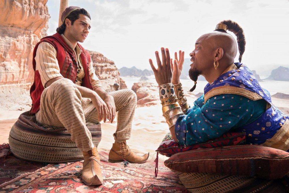 Mena Massoud as Aladdin and Will Smith as Genie in Aladdin (2019)