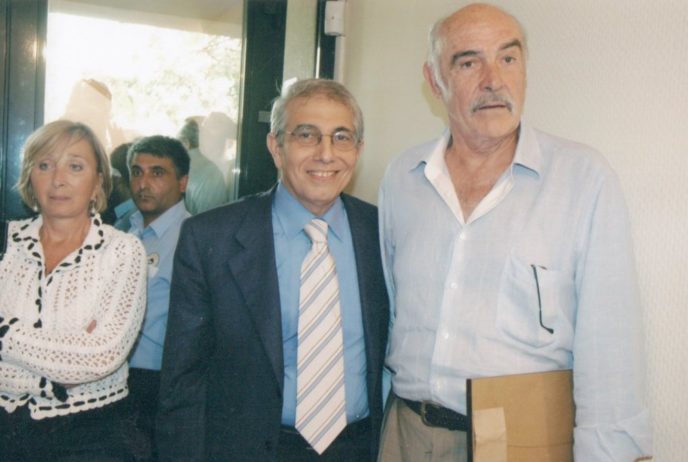 Mithat Alam and Sean Connery
