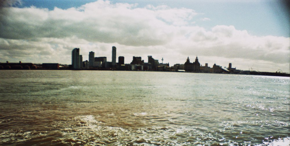 The view of Liverpool from Seacombe