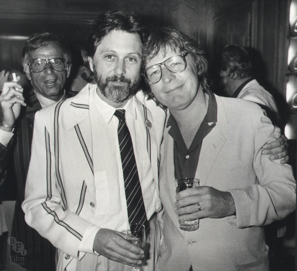 Alan Parker with friend and producer David Puttnam, Cannes Film Festival, 1979