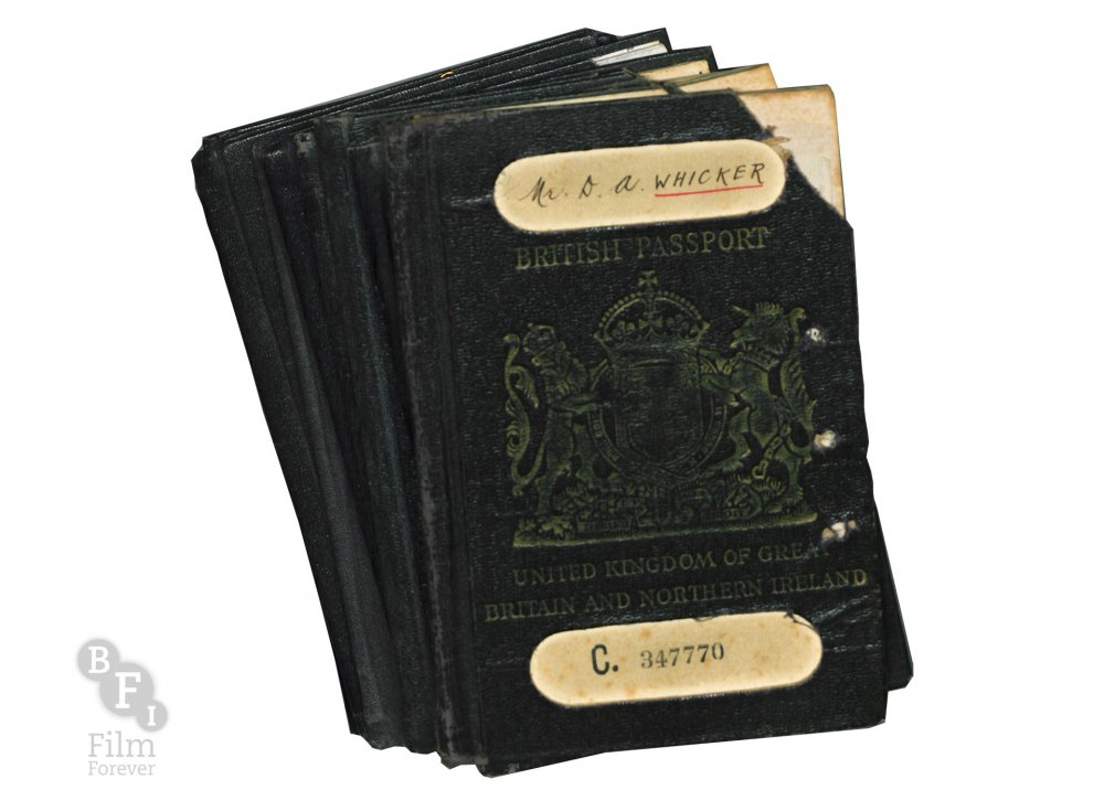 Alan Whicker's passports
