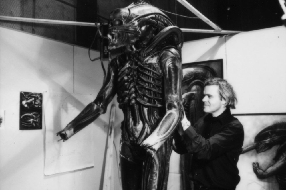 H.R. Giger at work for Alien (1979)