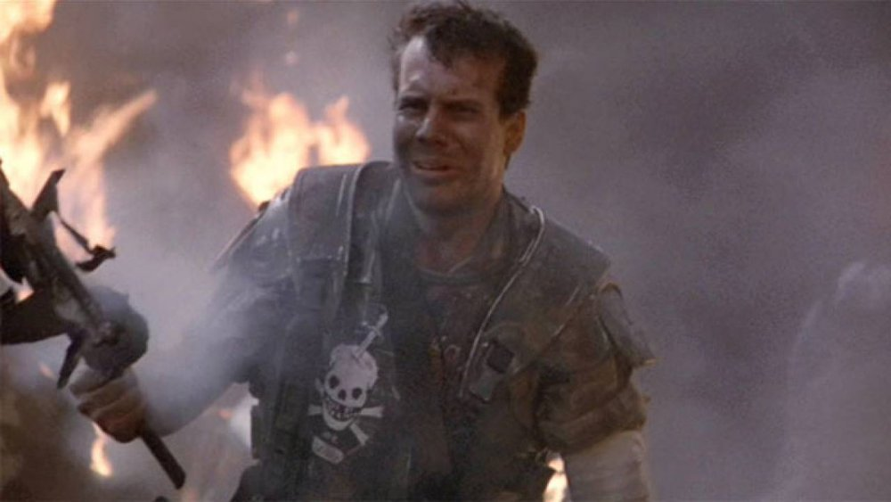 'Game over, man. Game over!' As Private Hudson in Cameron's Aliens (1986)
