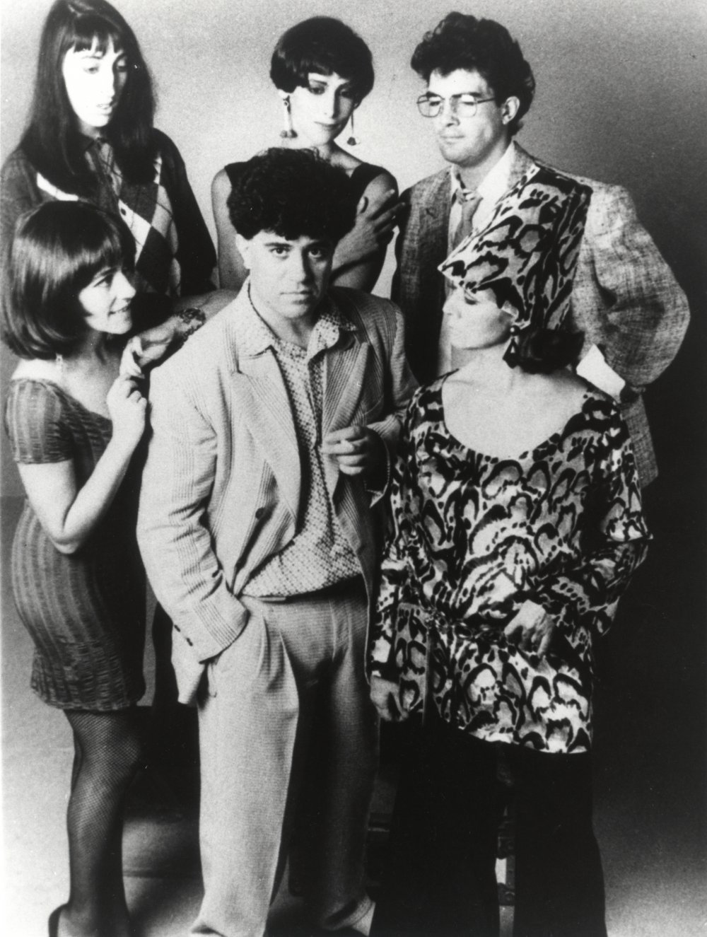 Pedro Almodóvar with the cast of Women on the Verge of a Nervous Breakdown (1988)