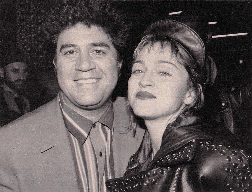Pedro Almodóvar and Madonna in Los Angeles in 1989