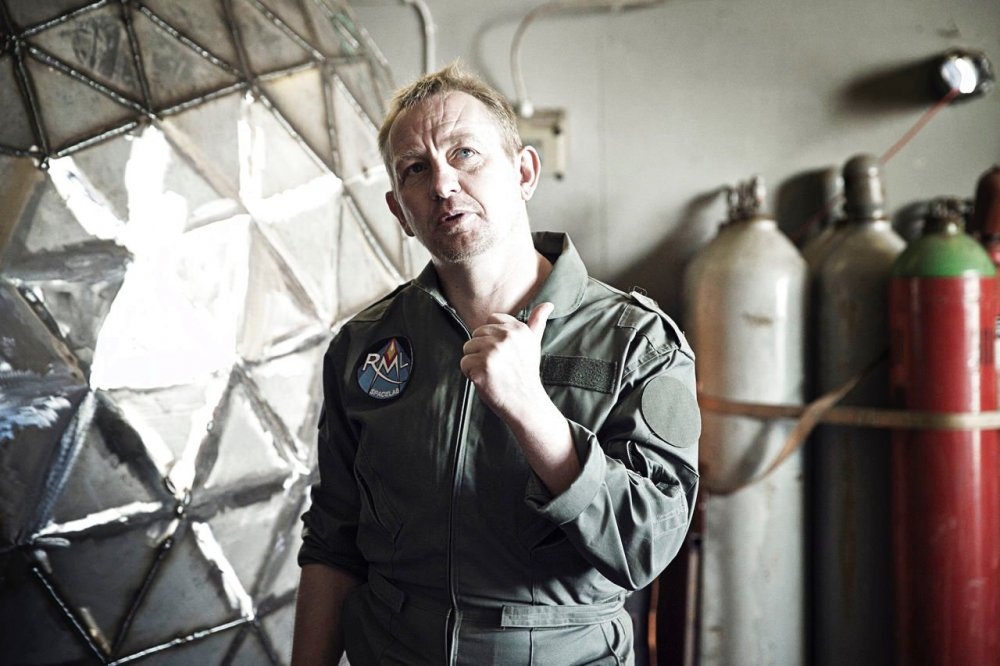 Alleged submarine murderer Peter Madsen as a would-be astronaut in 2016's Amateurs in Space
