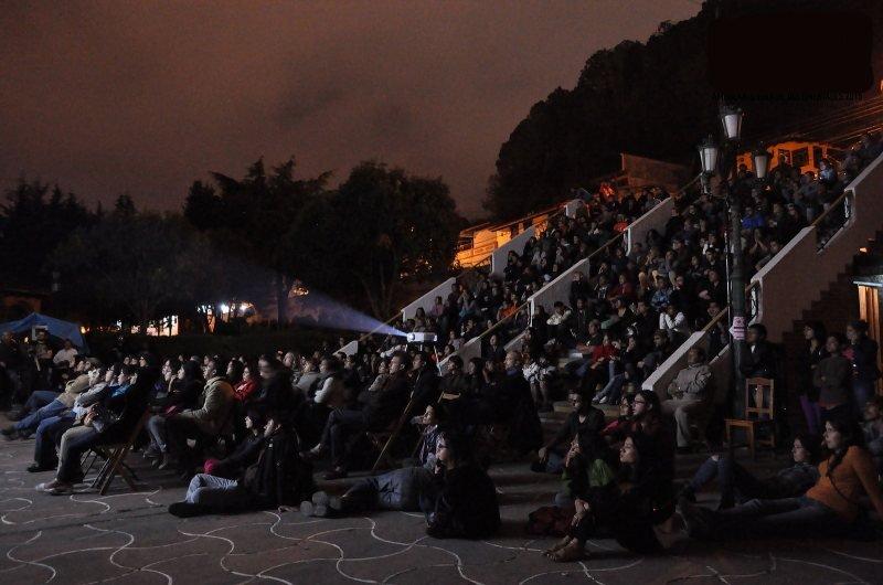 A screening in Chiapas