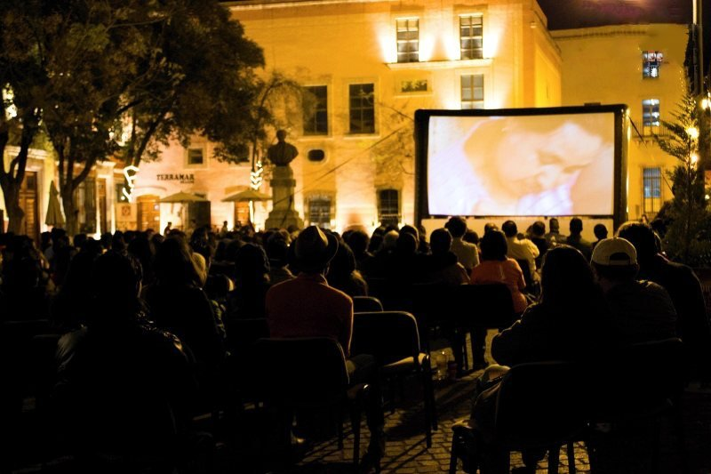 A screening in Zacatecas