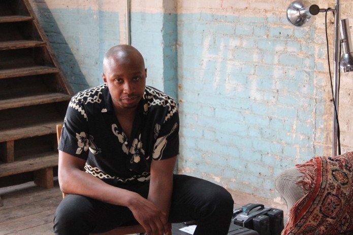 Shola Amoo shooting A Moving Image (2016)