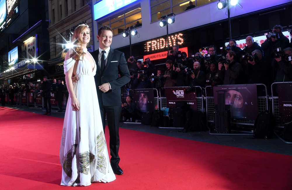Amy Adams and Jeremy Renner attend the Royal Bank of Canada Gala screening of Arrival at Odeon Leicester Square