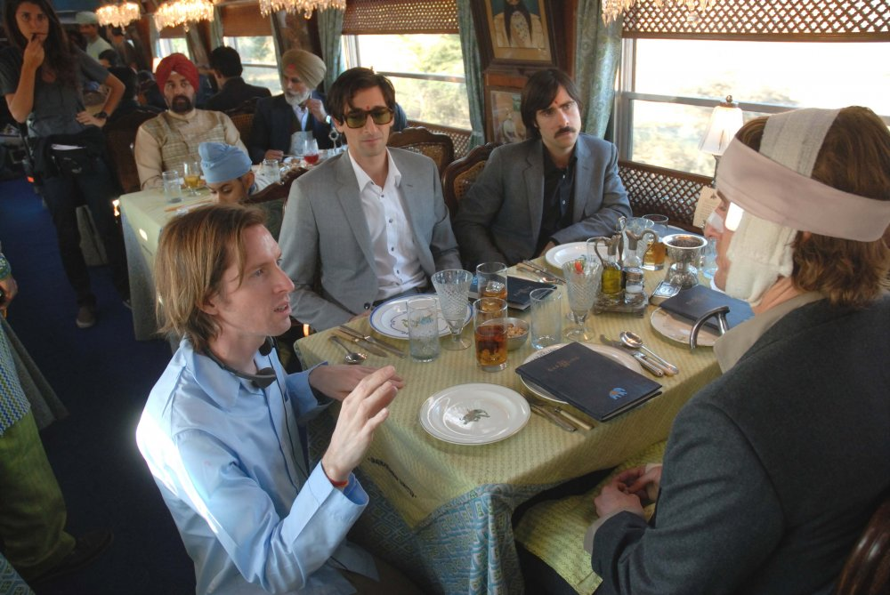 Wes Anderson directing The Darjeeling Express (2007)