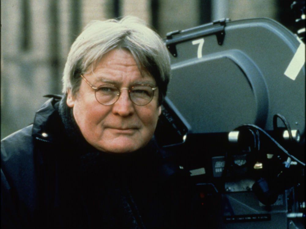 Alan Parker on set of Angela's Ashes (1999)