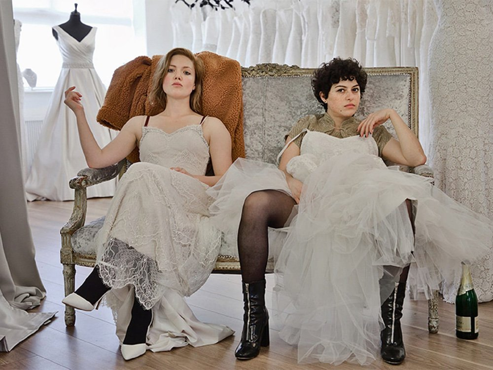 Holliday Grainger as Laura and Alia Shawkat as Tyler in Animals