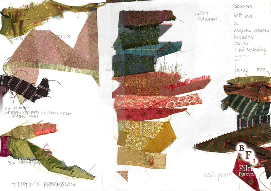 Fabric samples for Anna and the King (1999)