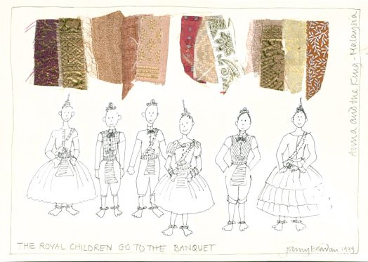'The Royal Children Go to the Banquet' for Anna and the King (1999)