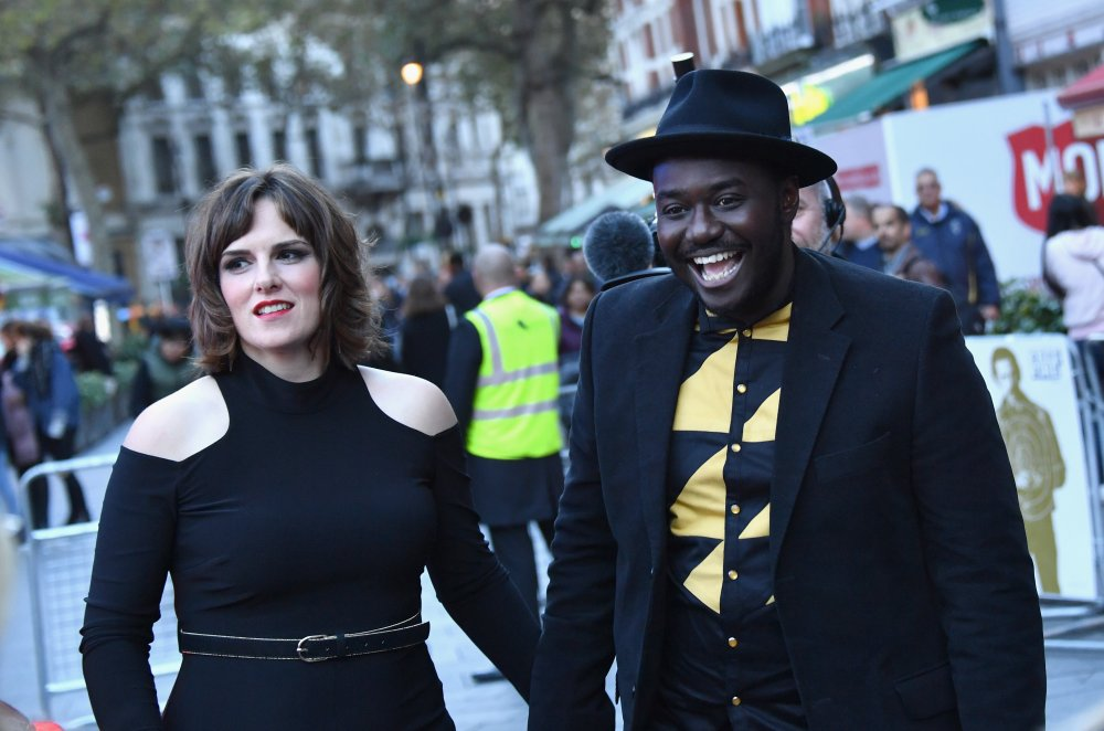 Anna Ceesay and Babou Ceesay attend the Closing Night Gala screening of Free Fire at Odeon Leicester Square