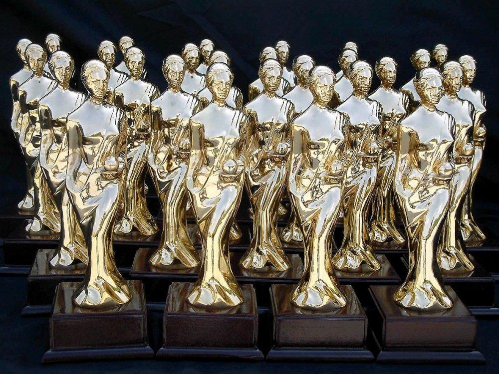 The only fruit: Antalya Golden Orange International Film Festival statuettes