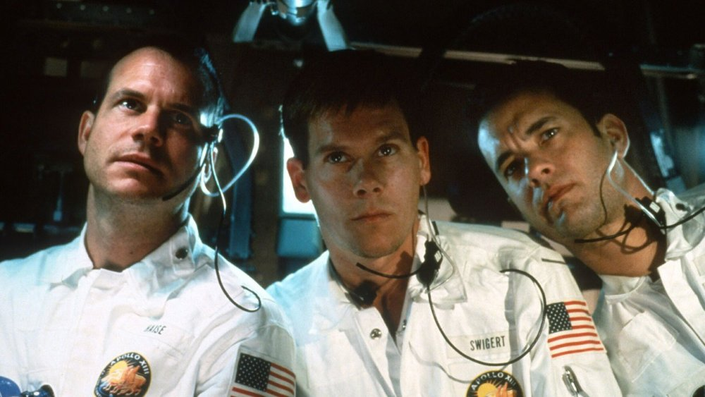 As astronaut Fred Haise, alongside Kevin Bacon and Tom Hanks, in Ron Howard's Apollo 13 (1995)