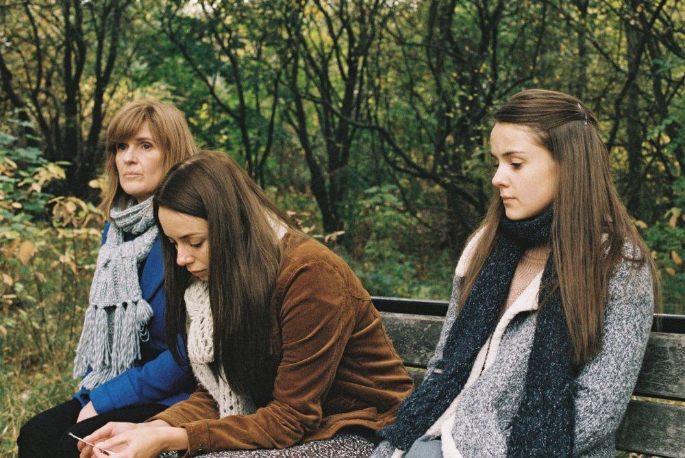 Siobhan Finneran as Ivanna, Sacha Parkinson as Luisa and Wright