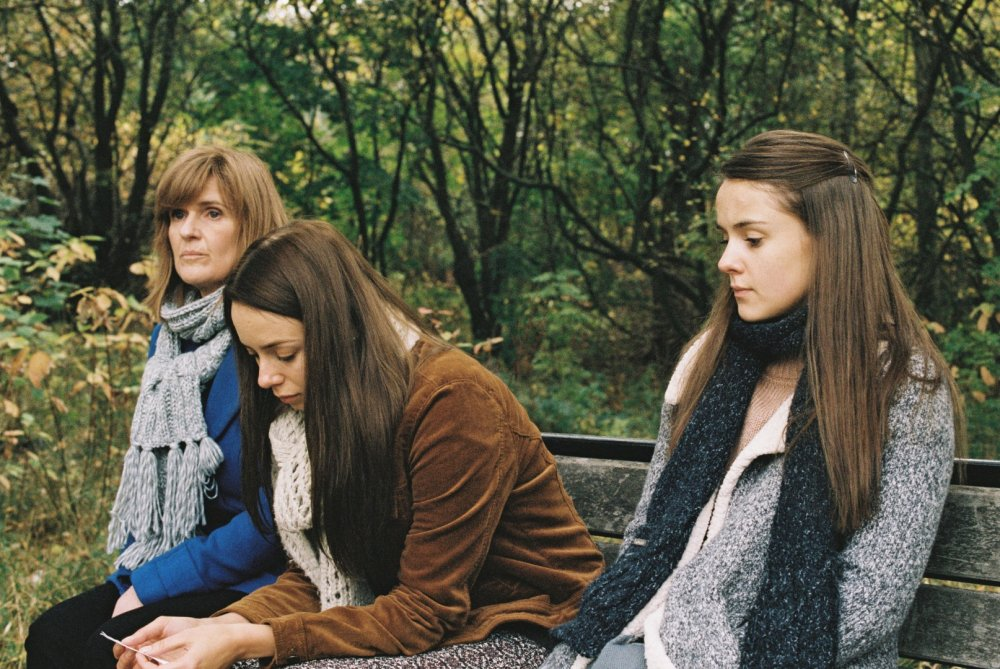 Siobhan Finneran as Ivanna, Sacha Parkinson as Luisa and Wright