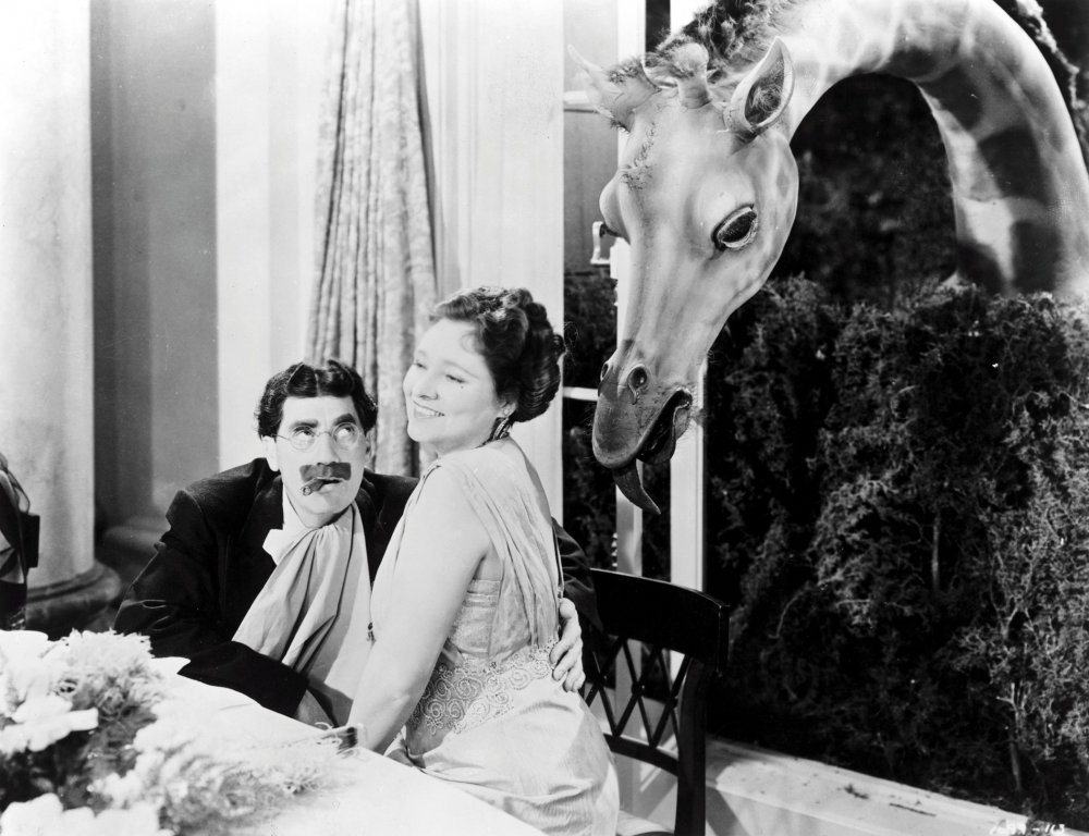 Attorney Loophole seducing Mrs Dukesbury in At the Circus (1939).