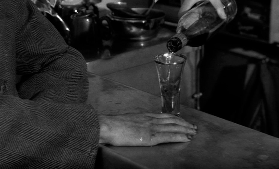 More human frailty. Balthazar is now owned by the local drunk Arnold, whose declarations to quit drinking are undercut by Bresson showing his helplessness to avoid slipping back into alcoholism.