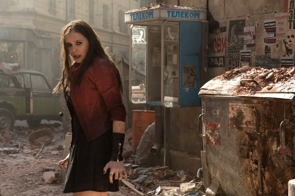 Elizabeth Olson as the Scarlet Witch, one of the more significant new recruits to Joss Whedon's latest contribution to the Marvel tapestry