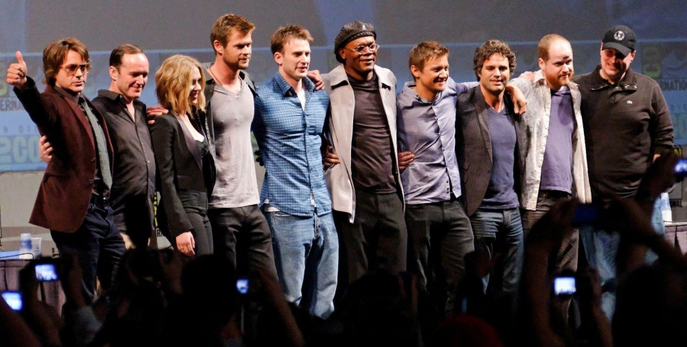 The cast of The Avengers Assemble (2010) assemble at Comic Con