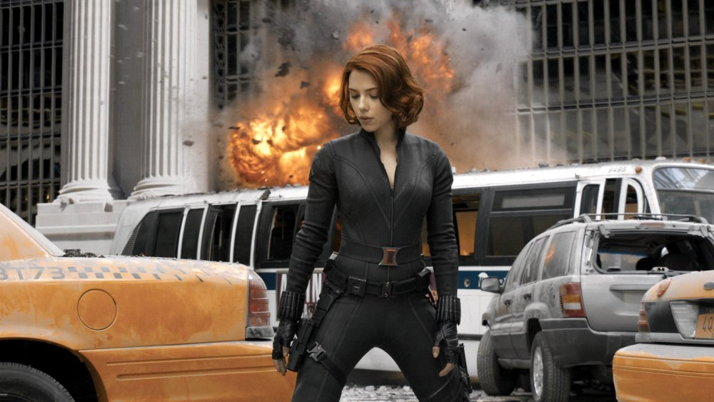 Nonchalance reigns: Scarlett Johansson's Black Widow in Avengers Assemble (2012)