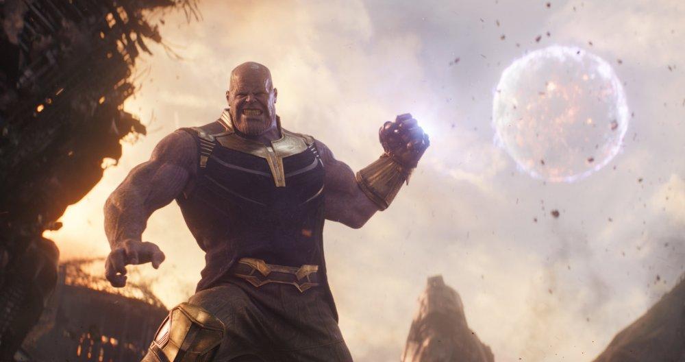 Josh Brolin as 'groovy-chinned purple thanatophile Thanos' in Avengers: Infinity War