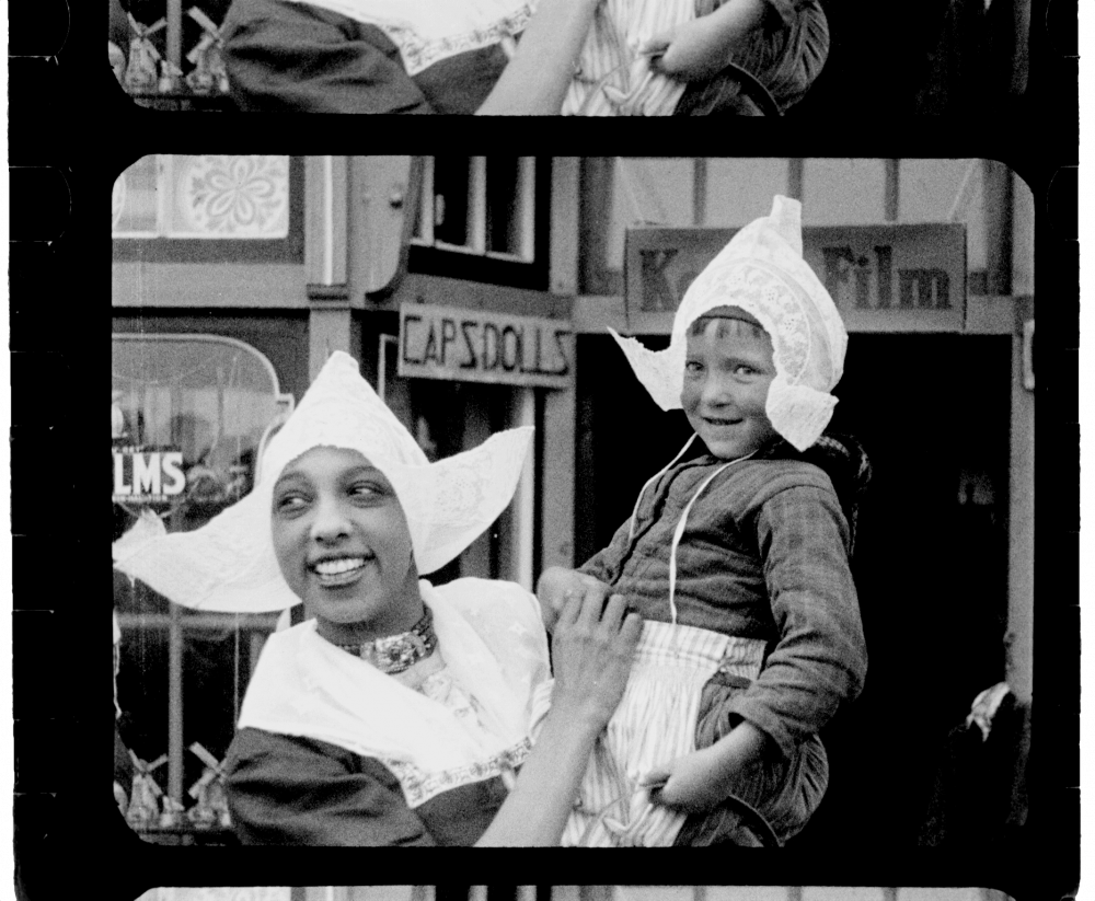 Josephine Baker on a visit to the Netherlands, 1928