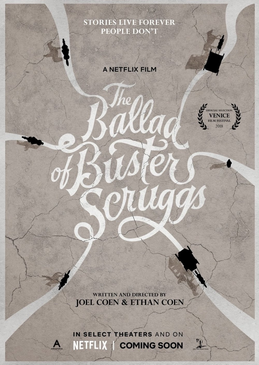 <strong>The Ballad of Buster Scruggs</strong> – This anthology of a half-dozen western tales is a six-shooting delight from the Coen brothers