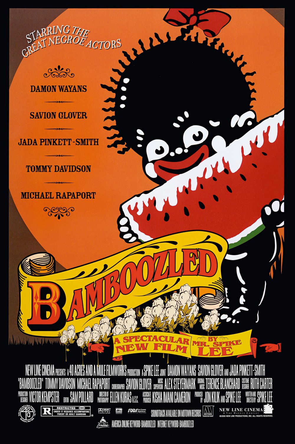 Just as Spike Lee's Bamboozled (2000) catalogues Hollywood caricatures of black people, so does its poster.