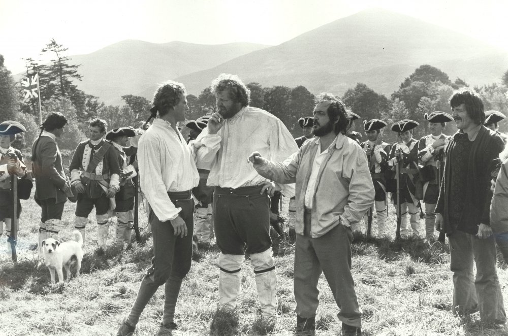 Kubrick, O'Neal and other cast on location in Ireland