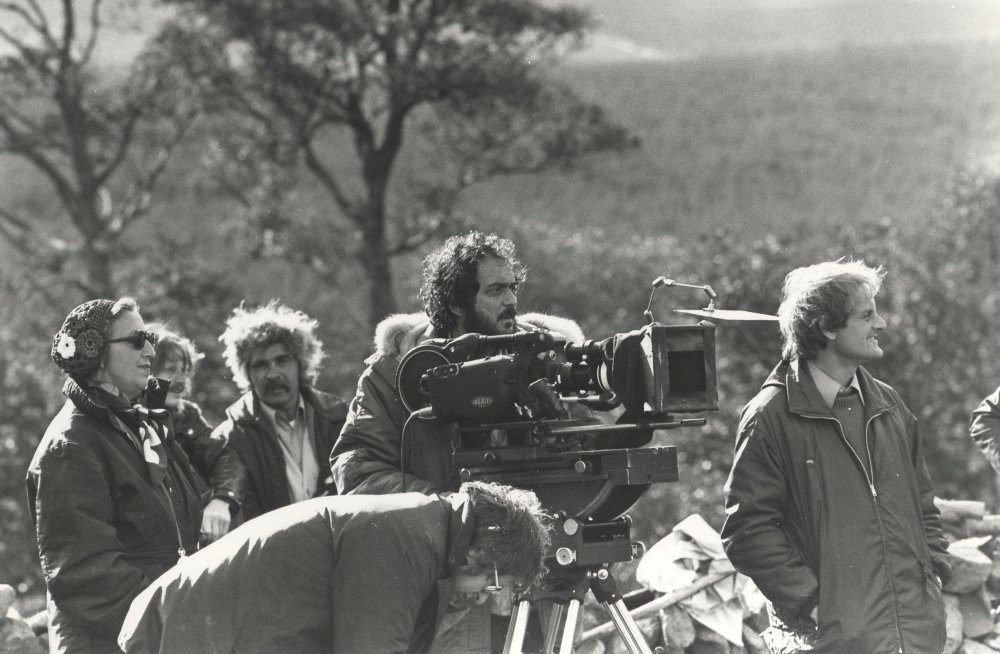 Stanley Kubrick on location during production of Barry Lyndon (1975)