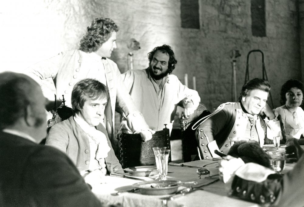 Kubrick and O'Neal chatting during filming of the communal dinner scene in Barry's Irish hometown. It's at this table that Barry comes to blows with his love rival John Quin (Leonard Rossiter), a British army captain – the conflict that sets our hero's adventures in motion