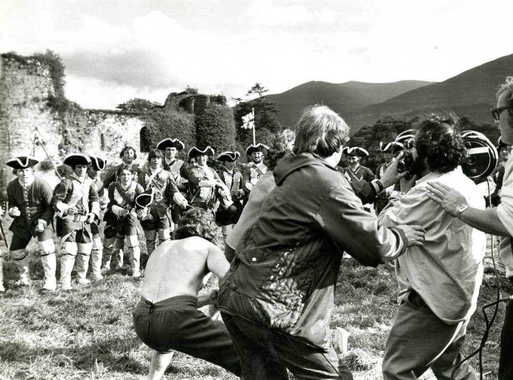 Filming the bare-knuckle brawl at the army encampment, in which Barry is pitted into combat with a troublemaker called Toole. Toole is played by actor and wrestler Pat Roach, who would later turn up as various strongmen in the first three Indiana Jones films, Clash of the Titans (1981) and Never Say Never Again (1983)